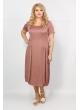 Платье Веста (розовый принт)