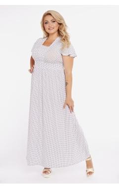 платье Винтаж (белый/черный горох)
