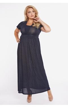 платье Винтаж (чёрный/горох)