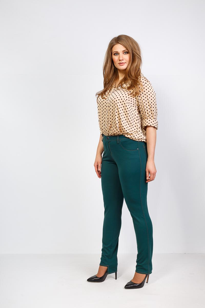 яркие брюки для женщин плюс сайз