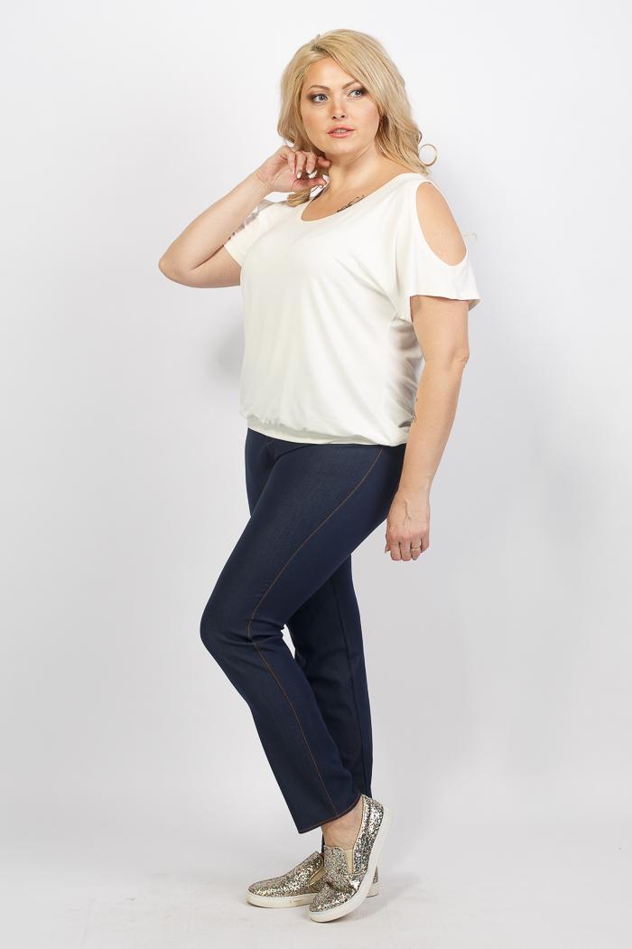 футболки и джинсы для полных женщин