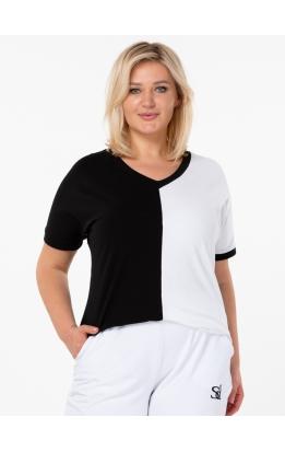 футболка Двухцветная (черный/белый)