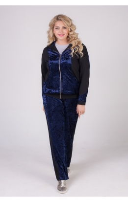 спортивный костюм Велюр (тёмно-синий)