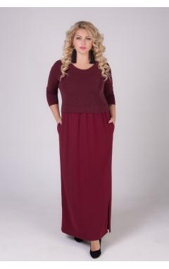 платье Бренда (бордо)