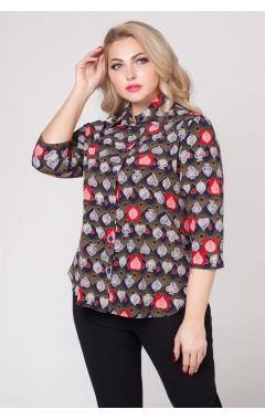 блуза Подиум (зеленый/карты)