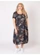 платье Агата2 (серый/принт цветы)