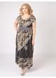 платье Лана (серый/принт)