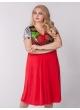 платье Шэр (красный/красные цветы )
