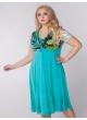 платье Шэр (бирюза/цветы бирюза)
