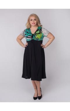 платье Шэр (черный/цветы бирюза)