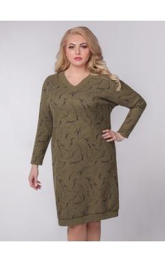 платье Ариша (зелёный/принт)