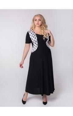 платье Каролина (черный/чёрный горох)