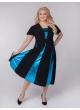платье Фиеста (черный/бирюзовый)