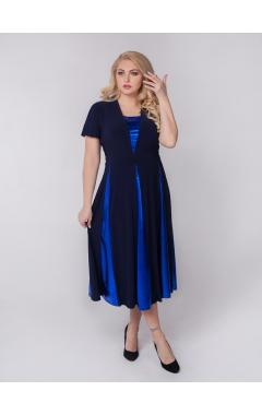 платье Фиеста (синий/электрик)
