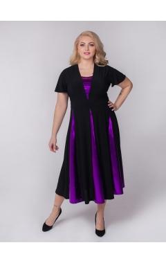 платье Фиеста (черный/фиолетовый)