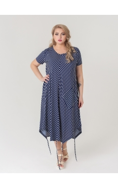 платье Сансара (синий/белая полоска)