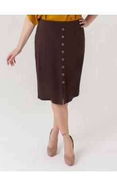 юбка Мадонна (тёмно-коричневый)