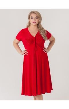 платье Стразы (красный)