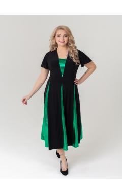 платье Фиеста (чёрный/зелёный)