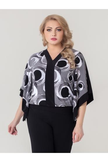 блуза Анкара (черный/круги)