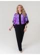 блуза Анкара (фиолет/цветы)