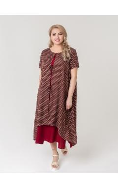 платье Твин2 (бордо/принт)