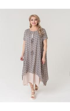 платье Твин2 (бежевый/принт)