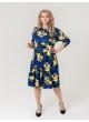 платье Софи (синий/цветы)