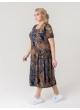платье Агата2 (серый/серые цветы)