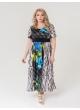 платье Тиволи (чер/синие цветы)