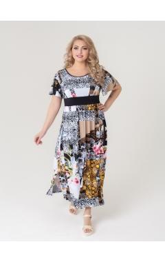 платье Тиволи (чёрно-жёлтый/принт)