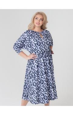 платье Вита (серый/питон)