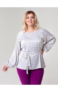 блуза Рина (молочный/принт буквы)