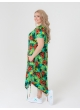 платье Сансара (зелёный принт)