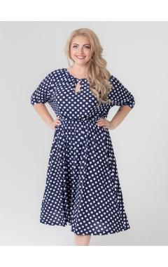 платье Вита (горох/тёмно-синий)