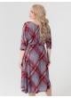 платье Вита (коричневый/клетка)