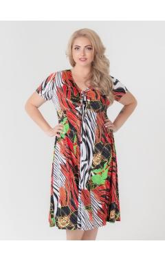 платье Шэр (красный/цветы )
