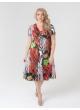 платье Шэр2 (красный/цветы )