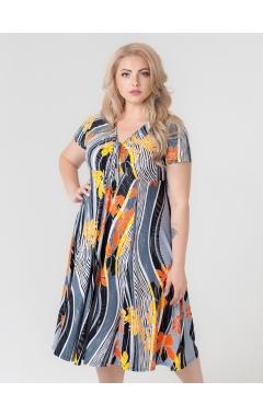 платье Флер Блеск (оранжевый)