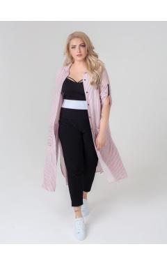 рубашка Артис (розовый/полоска)