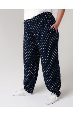 брюки Алсу (синий/принт звёзды)