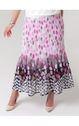 юбка Июнь (серый/розовый)