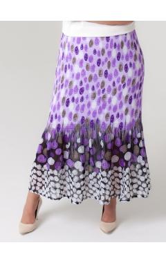юбка Июнь (фиолет/серый)