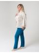 блуза Рина (бежевый/принт цепочки)