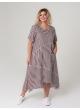 платье Кипр (полоска/коричневый)