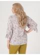 блуза Дороти (серый/лилии)