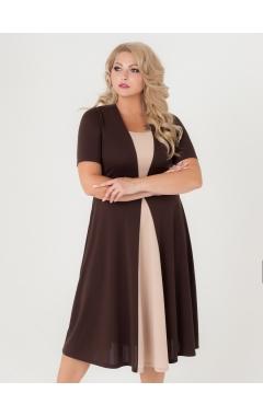 платье Челси (коричневый/бежевый)