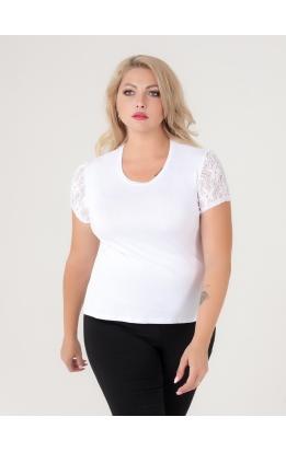 футболка Слив Гипюр (белый)