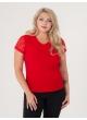 футболка Слив Гипюр (красный)