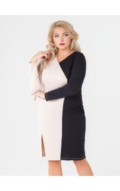 платье Дора (черный/бежевый)
